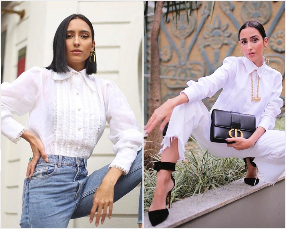 inspirações de looks com camisa branca